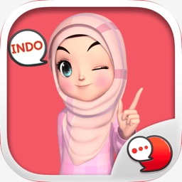 Amarena 3D Hijabgirl Indo Stickers for iMessage
