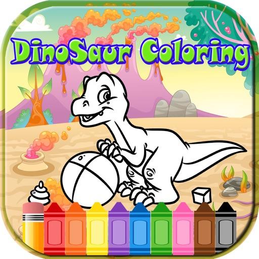 Dinosaur kid Coloring Book Game