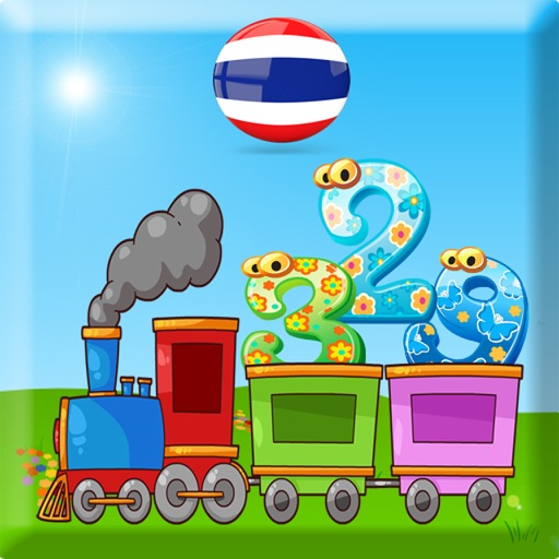 123 learn to count for children - Thai