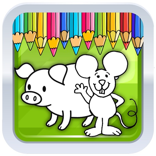 Kids Coloring Pages Mouse And Pep Pig Games app logo