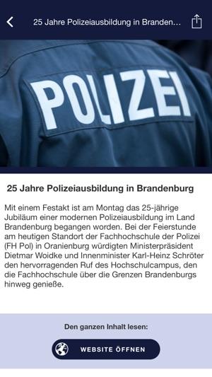 Polizei Brandenburg Im App Store
