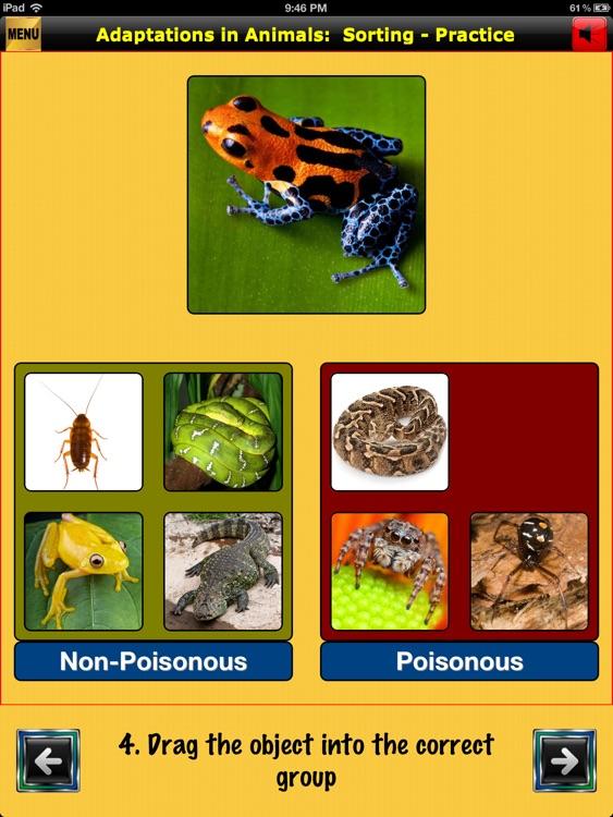 easyLearn Adaptations in Animals | Life Science HD screenshot-3