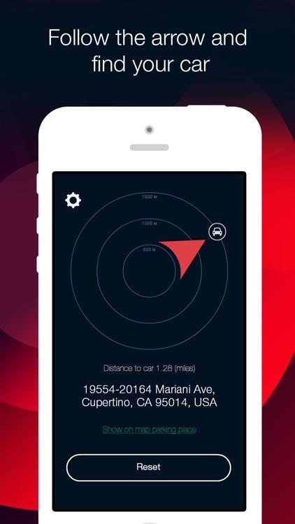 Car Finder: parking navigator and compass screenshot-3
