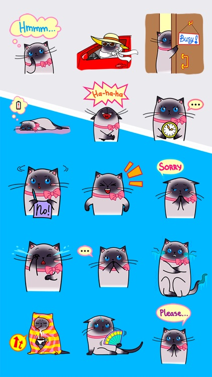 Sima The Cat Stickers Pack 1