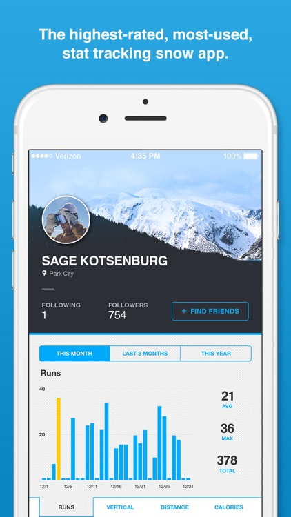 Trace Snow - Ski + Snowboard Tracker screenshot-0