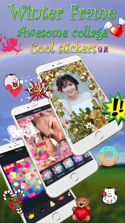 Christmas Frame - Camera Sticker, Take Photo screenshot-3