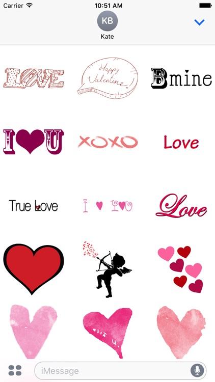 Cute Love Sticker for iMessage screenshot-4