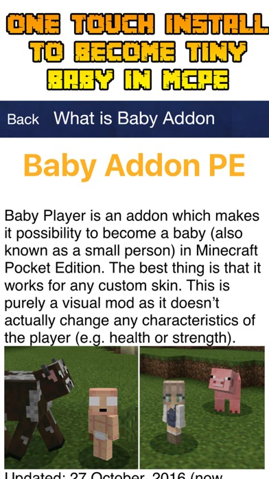App Shopper: Baby Roleplay Addon For Minecraft PE (Utilities)