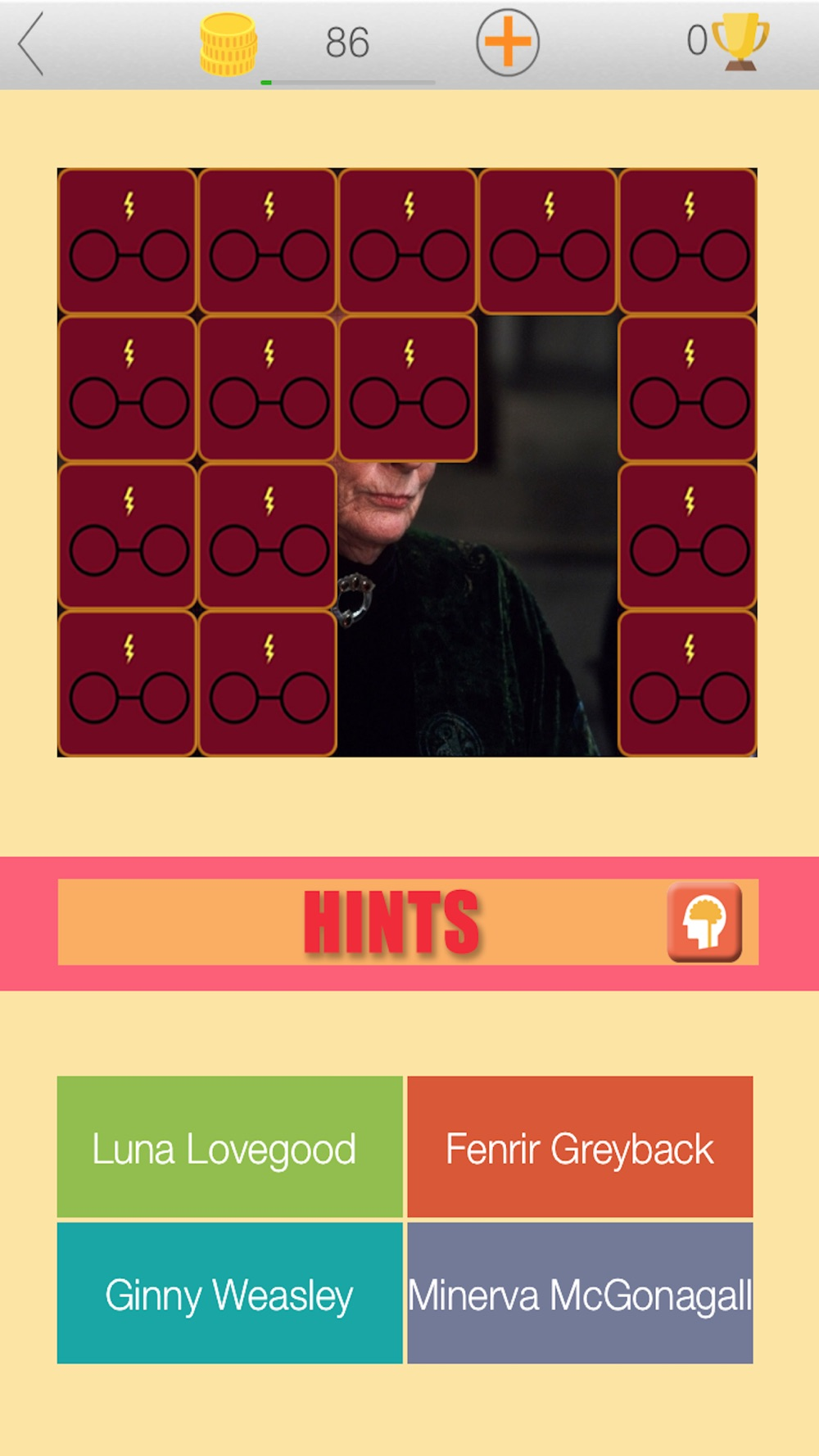 """Tap To Guess Wizard Quiz """"For Harry Potter"""" Cheat Codes"""