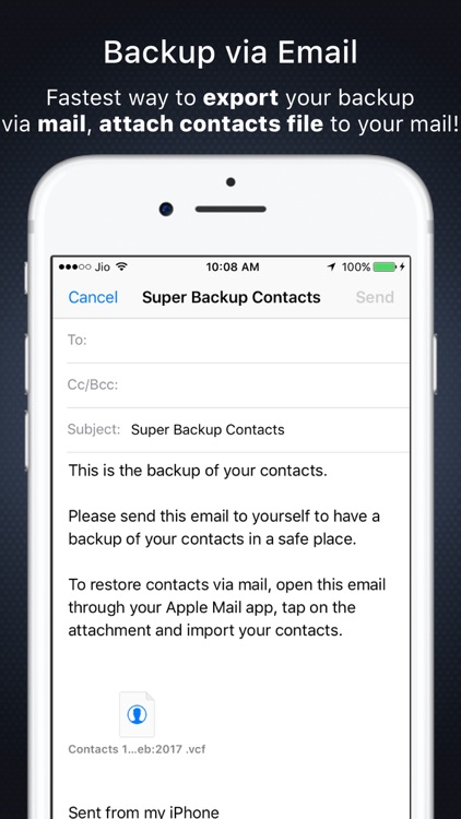 Super Backup: Import / Export All Contacts from PC screenshot-4