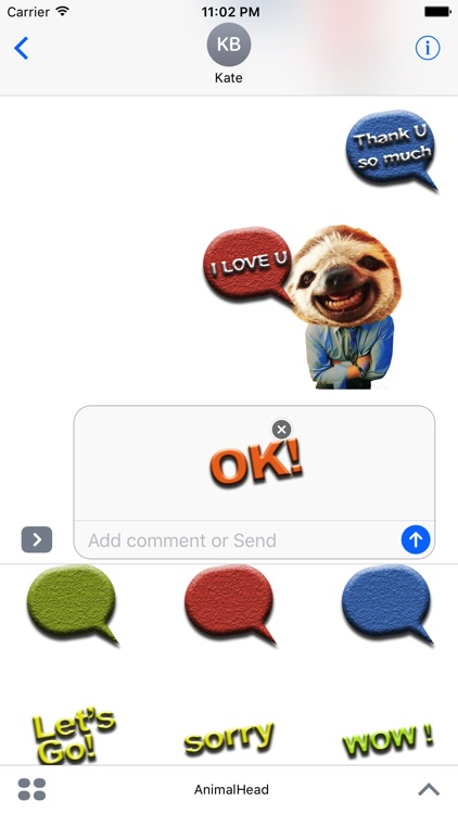 AnimalHead - Message icon screenshot-3