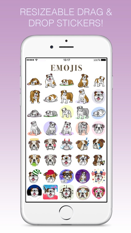Bulldoggi Emojis - English Bulldog Emoji Stickers screenshot-1