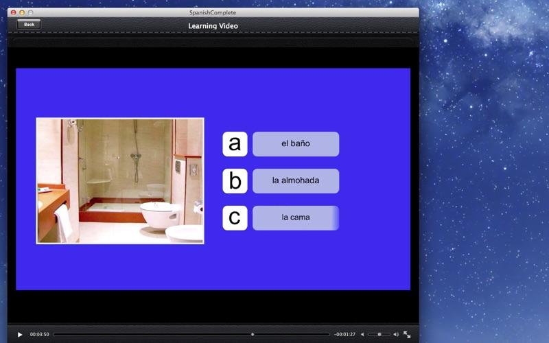 Spanish Complete screenshot 2