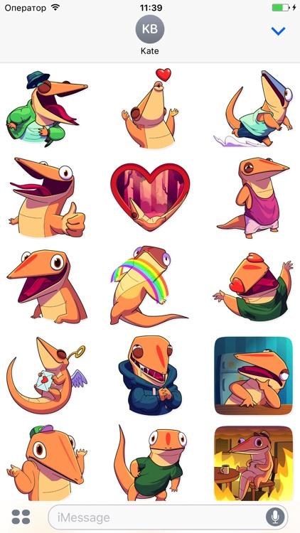 Lizard! Stickers