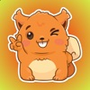 Cute Red Squirrel Stickers