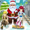 Subway Santa Running : Princess Train Surfers