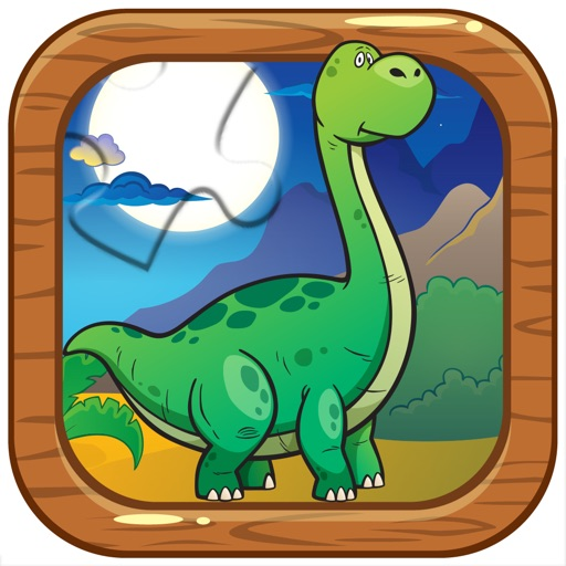 Dinosaur jigsaw puzzle for children