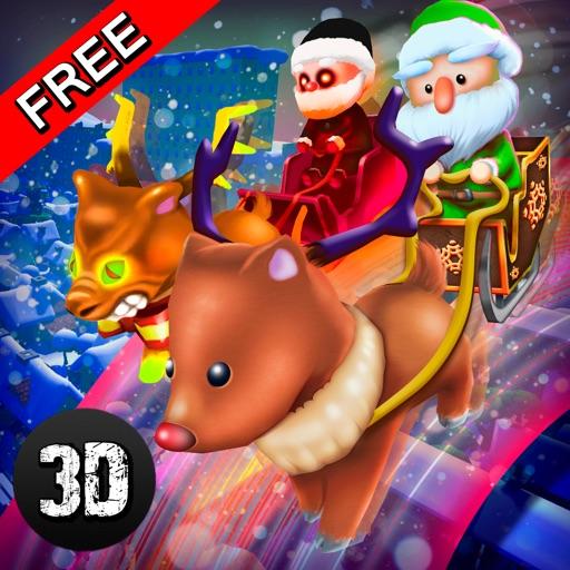 Santa Claus Christmas Snow Racing