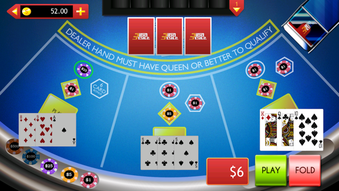 Casino Games: Let It Ride On, 3 Card Poker & More Screenshot
