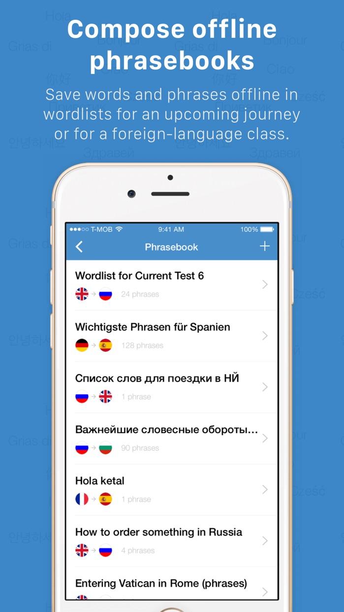 Instant Translate – translator, dictionary & voice Screenshot