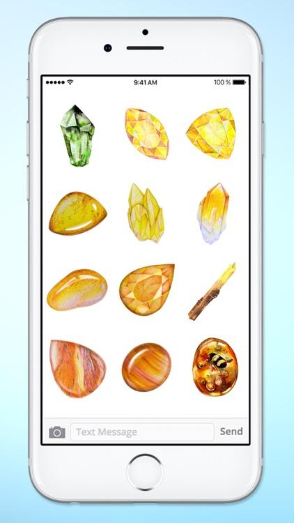 Healing Gems and Crystals Sticker Pack screenshot-4