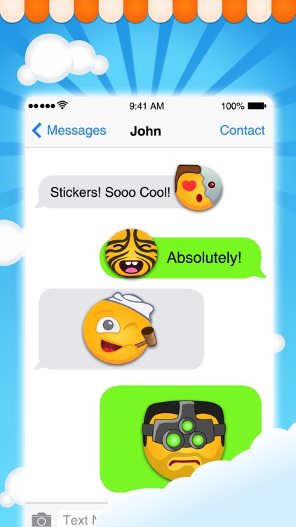 Fun Emoji Stickers - Best emoticons for iMessages screenshot-3