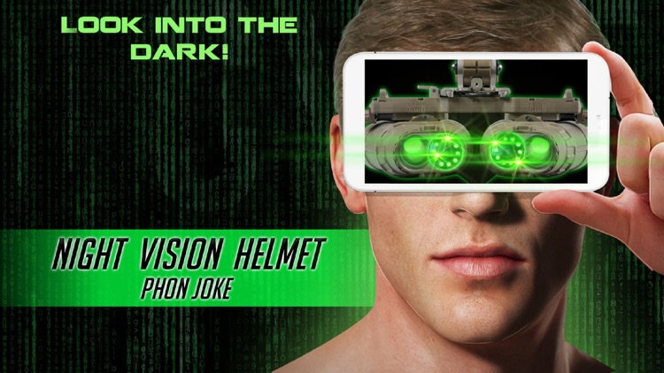 Night Vision Helmet Phone Joke