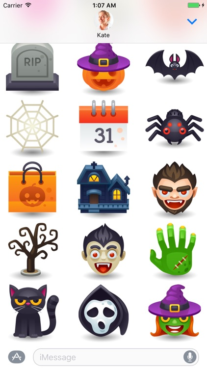 Halloween Pack 6 - Stickers for iMessage