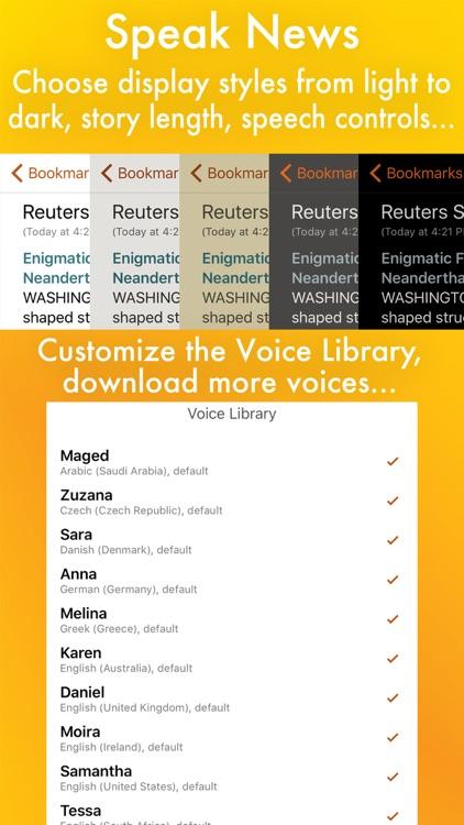 Speak News - RSS news reader with text-to-speech screenshot-3