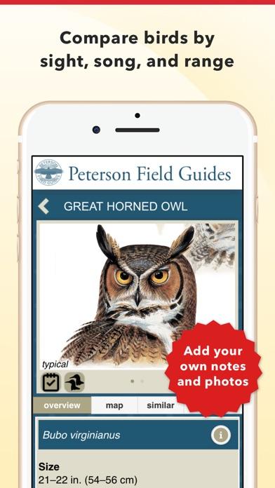 Peterson Bird Field Guide review screenshots