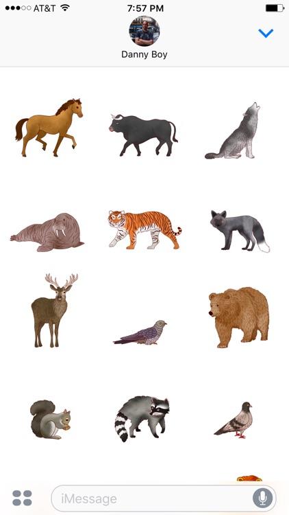 Jazzy World Animals - Wildlife Zoo Stickers screenshot-4