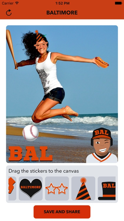 Baltimore Baseball Stickers & Emojis