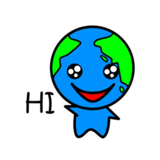 Cute Earth Emoji Sticker