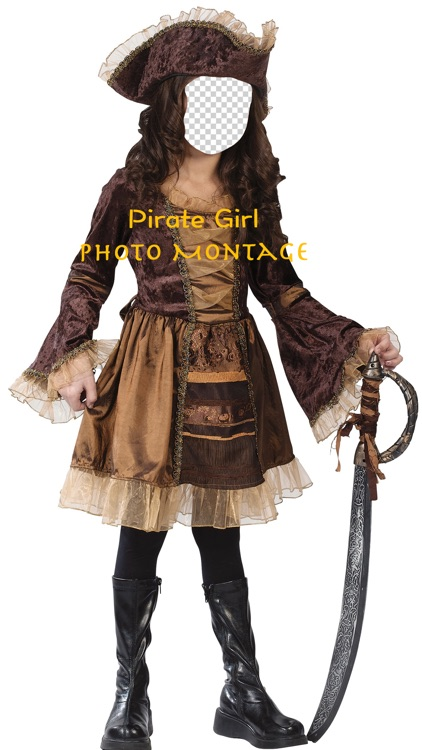 Pirate Girl Photo Montage