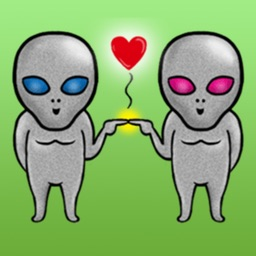 Funny Alien Stickers