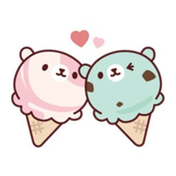 Cute Ice Cream Stickers Pack