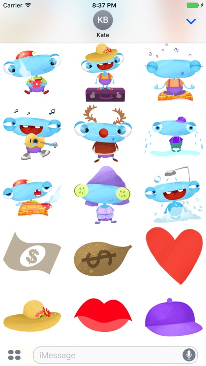 Happy Funny Monster - cute stickers screenshot-3