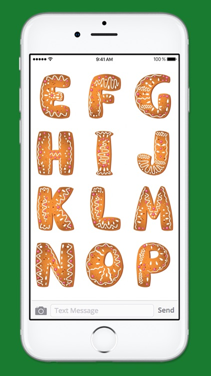 Gingerbread Cookies Holiday Sticker Pack 1 screenshot-4