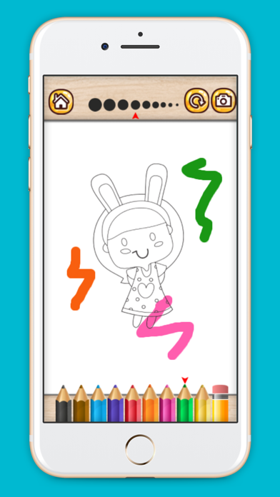 Coloring game for Girl screenshot one