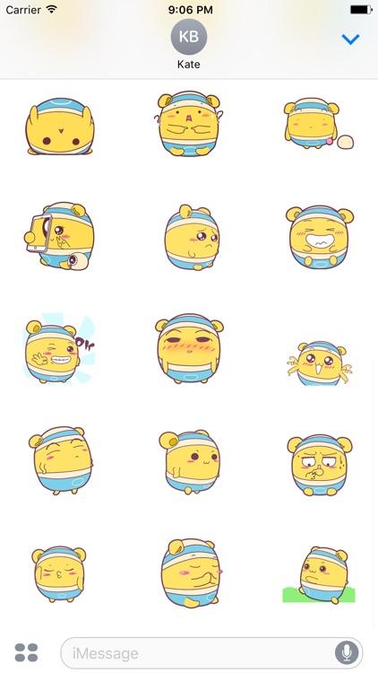Shiro Hamster animated stickers