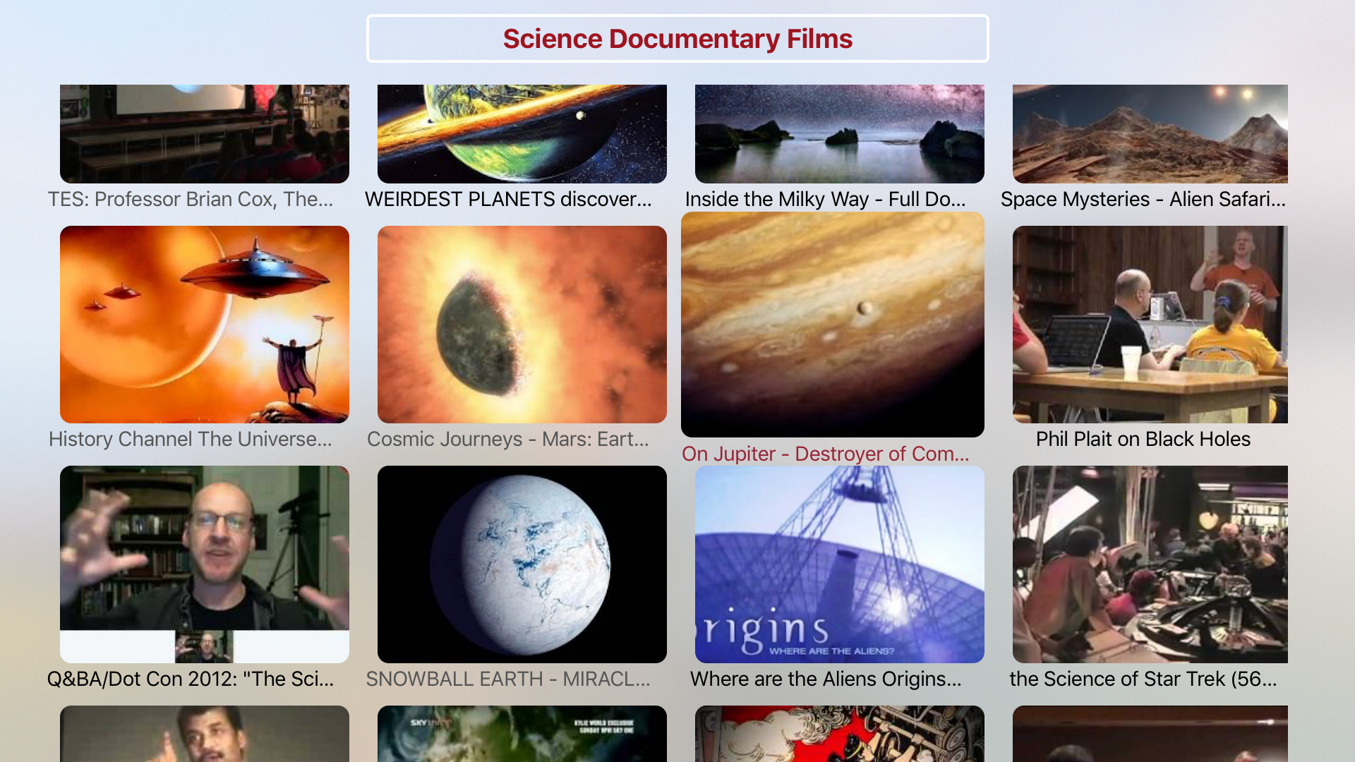 Science Documentary Films - HD Collection screenshot 1