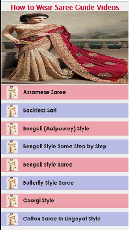 How to Wear Saree Guide Videos