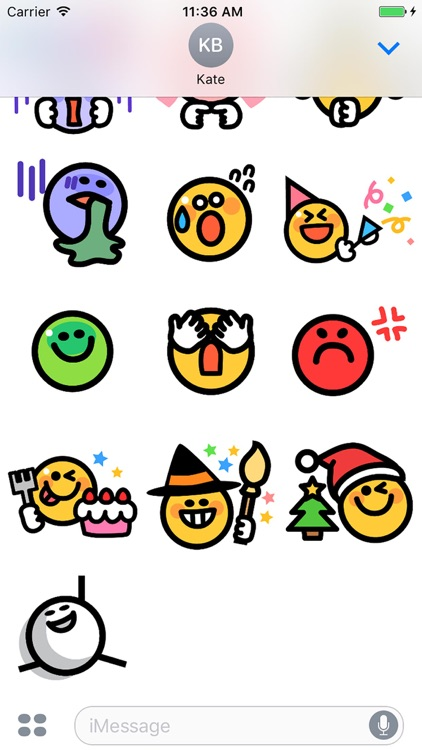 Smiley face Sticker 1 screenshot-4