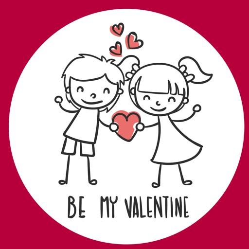 Be my Valentine - stickers
