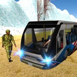 Army Training School Bus Transport Driver 3D Sim
