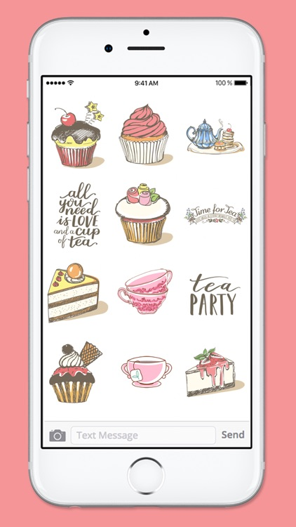 Tea and Cakes Sticker Pack screenshot-3