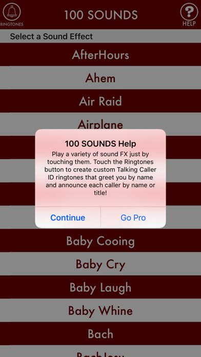 100sounds + RINGTONES! 100+ Ring Tone Sound FX screenshot four