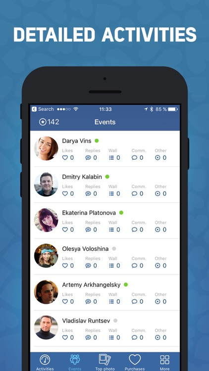 Track your friends activities in VK screenshot-2