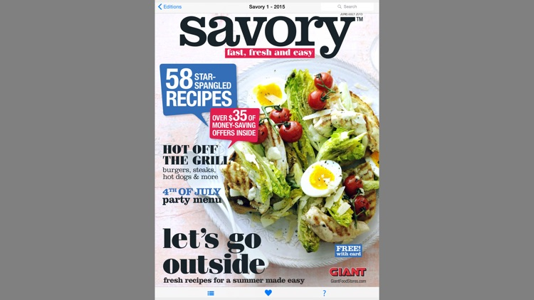 Savory Mag. Giant Food Stores