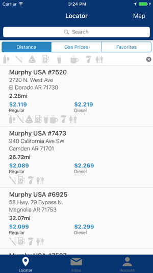 Gas Finder App >> Murphy Usa Express Gas Finder On The App Store